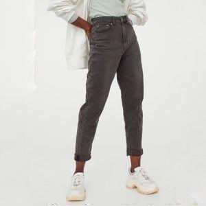 H&M Dark Gray Mom Jeans